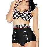 Booolavard Vintage Push Up Bikini im Retro Rockabilly Style...