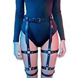 Homelex Sexy Punk Leder Taille Bein Caged Harness Gothic...