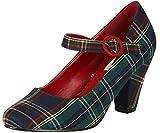 Lulu Hun Damen Schuhe Marianne Tartan 50s High Heels Pumps...