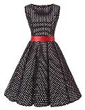VKStar 50er 60er Retro Kleider Damen mit Tupfen Abendkleid...