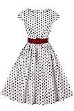 Axoe Damen 50er Jahre Audrey Hepburn Vintage Kleid...
