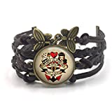 Butterfly N Beez Antike Bronze Sailor Jerry Armband| Sailor...