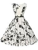 Damen rockabilly kleid 50er jahre kleid Blumenmuster...