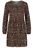 Sublevel Damen Kleid mit Blumen-Muster Langarm Herbst...