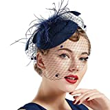 Coucoland Feder Fascinators Hut Damen Blumen Mesh Elegant...