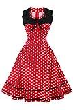 Axoe Damen 60er Jahre Polka Dot Retro Vintage Rockabilly...