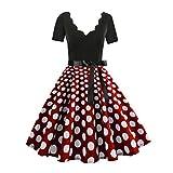 Damen elegant 50er Jahre Petticoat Kleider Drucken...