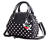 SugarShock Damen Handtasche Elsa Polka Dots, Farbe:schwarz...