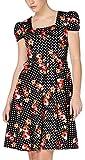 Voodoo Vixen Kleid Jemima Dress 8077 Schwarz M