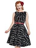 Voodoo Vixen Kleid Mariam Black Floral Dress 8551 Schwarz M