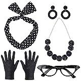 Beelittle 50's Damen Kostüm Accessoires Set Polka Dot...