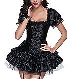 R-Dessous sexy Corsagenkleid Corsage + Rock Mini Kleid...