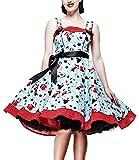 Hell Bunny Kleid Dixie Dress lightblue/red 3XL