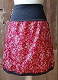 Rock handmade elastisch Ranken Blumen Sommer Baumwolle