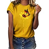 iHENGH Damen Top Bluse Bequem Lässig Mode T-Shirt Frühling...