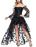 FeelinGirl Damen Korsagekleid Steampunk Gothic Kostüm Magic...