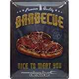 Nostalgic-Art 23292 Retro Blechschild Barbecue Nice To Meat...