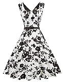 Damen Swing Kleid Petticoat Kleid Vintage Retro Sommerkleid...
