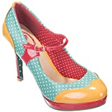 Dancing Days High Heel Pumps - Mary Jane Polka Dot Minzgrün...