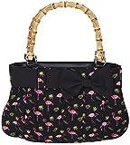 Küstenluder Damen Handtasche Viona Flamingo Bambus Shopper...