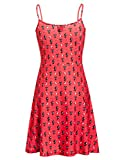 Pussy Deluxe Kitty Cupcake Love Dress red Allover, Größe:L