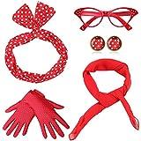Coucoland 50er Jahre Rockabilly Kostüm Accessoires Damen...