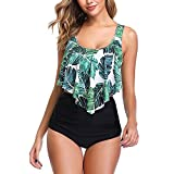 Shujin Damen High Waist Bademode Sommer Strand Retro Bikini...