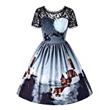 Damen Elegant Abendkleid Vintage Weihnachten Party Kleid...