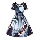 Damen Elegant Abendkleid Vintage Weihnachten Party Kleid...