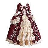 Damen Steampunk Gothic Kostüm Kleider Vintage Gothic Kleid...