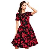 Dolly and Dotty Damen Kleid Darlene Floral Carmen Dress (M,...
