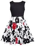 GRACE KARIN Retro Maedchen Blumen Kleid Vintage Kinder Kleid...