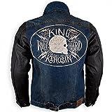 King Kerosin Herren Denim Leder Kevlar Bikerjacke Biker...