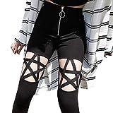 FRAUIT Damen Gothic T-Shirt Punk Schwarz Bluse V-Ausschnitt...