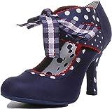 Ruby Shoo Damen Schuhe Aisha Vintage Polka Dot Karo Pumps...