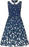 Dolly and Dotty Damen Kleid Annette Swallow 50s Swing Dress...