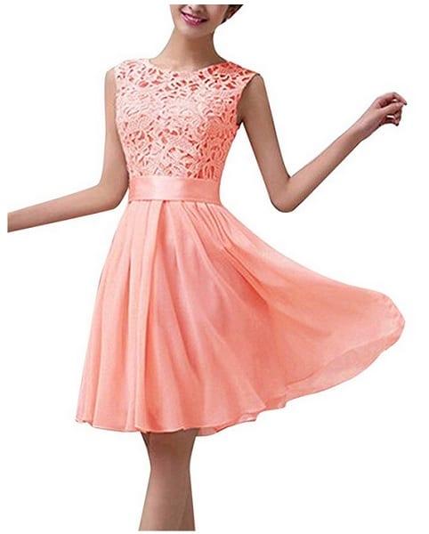 Brautjunfernkleid kurz rosa altrosa pastell günstig