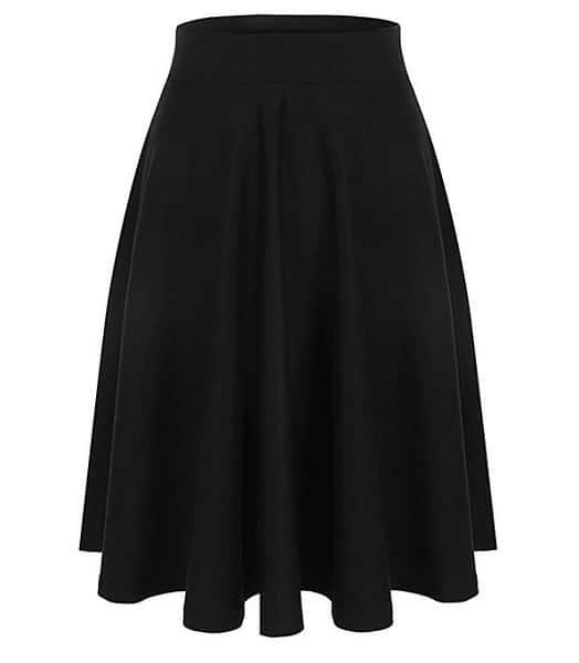 Emma & Giovanni Tellerrock Circle Skirt lang schwarz Damen 50er Jahre Rockabilly Rock