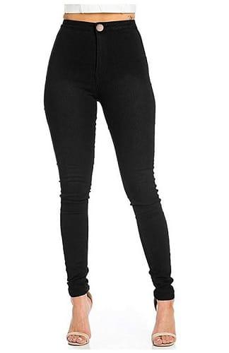 High Waist Jeans Damen schwarz günstig
