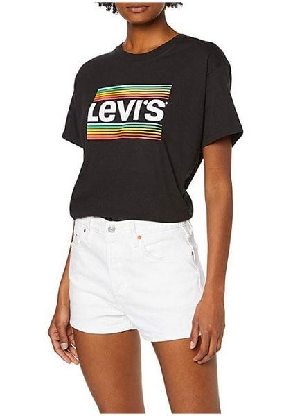 High Waist Shorts Damen Levis