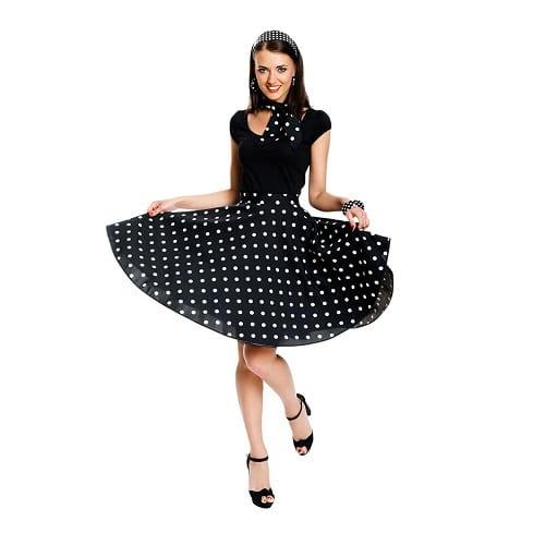 Kleid mit Tellerrock 50er Jahre Rockabilly Kleid Damen