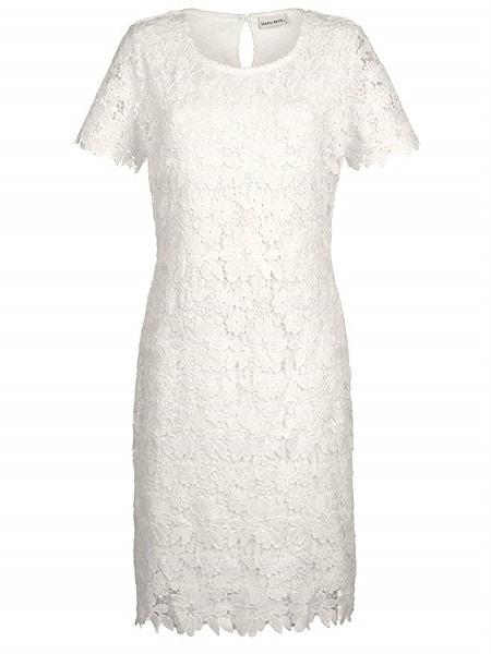 Laura Kent Kleid Damen Blumen weiß