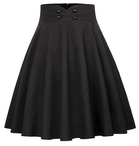 50er Jahre Vintage Rockabilly Petticoat Rock für Damen