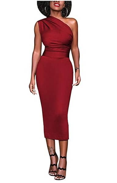 Etuikleid Bleistiftkleid Pencil Kleid Dress rot festlich