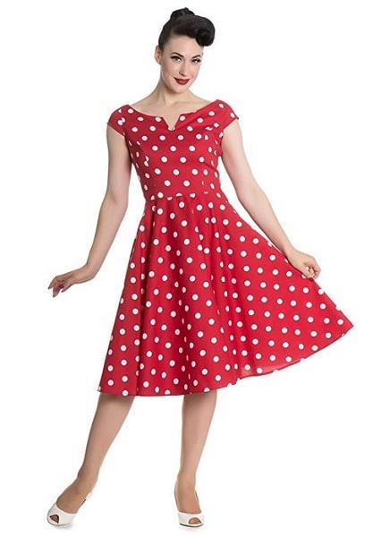 Hell Bunny Kleid Nicky 50'S Dress 4639 Damen