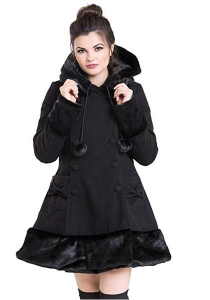 Hell Bunny Mantel Sarah Jane Coat Wintermantel Damen