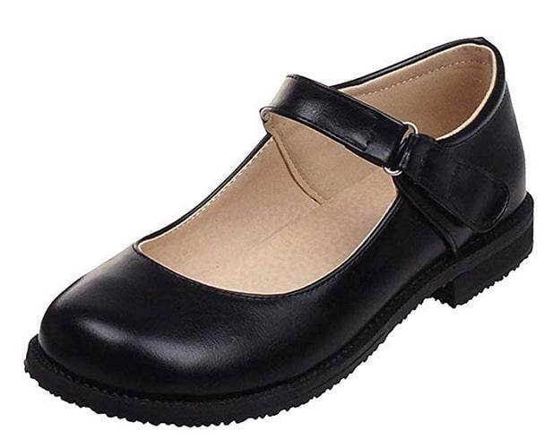 Mary Jane Schuhe Damen Mary Janes flach schwarz