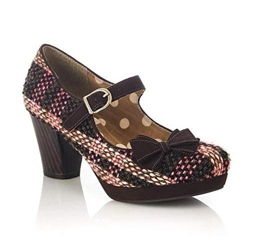 Ruby Shoo imogens Damen schwarze Spitze Knöchelriemen High Heels mit Stickerei