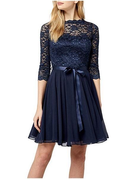 Swing Kleid Outfit 20er Jahre blau