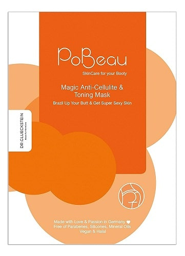 PoBeau Po Maske orange Anti Cellulite Koffein Carnitin Senfsprossen